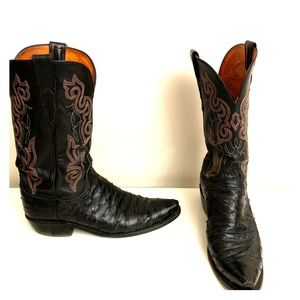 1883 by Lucchese Ostrich Leather Cowboy Boots